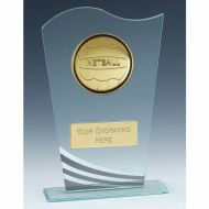 Richmond Netball Glass Award 8 1/8 Inch (20.5cm) : New 2020