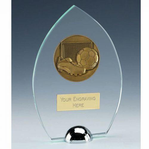 Gravity Peak Football Jade Glass Award 7 1/8 Inch (18cm) : New 2020