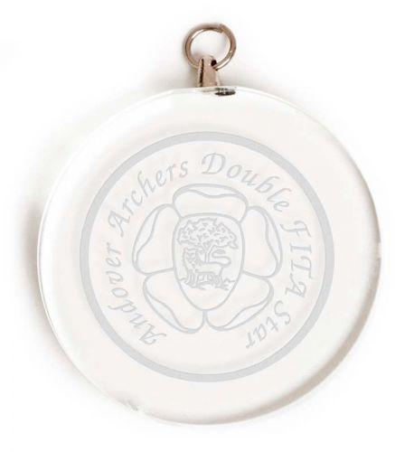 Circular Glass Award Medal 2 Inch (5cm) Diameter : New 2020