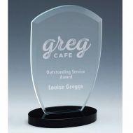 Oval Arch Jade Glass Award 7.75 Inch (19.5cm) : New 2020