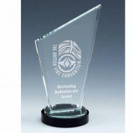 Stage Ridge Jade Glass Award 8 Inch (20cm) : New 2020
