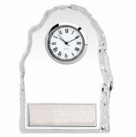 Iceberg4 Glass Award Clock with Plate 4.5 Inch (11.5cm) : New 2020