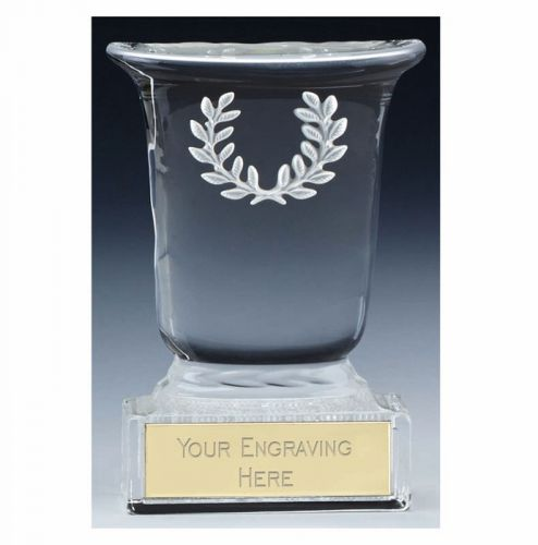 Premier Cast Glass Cup Trophy Award - Clear - 4 5 8 (11.5cm)- New 2018