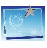 Premium Crystal Wedge - Clear Silver - 5 7 8 Inch (15cm)- New 2018