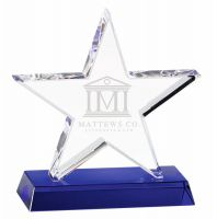 Premium Star Crystal - Clear Blue - 6.75 (17cm)- New 2018