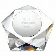 Pentagon Crystal 4 Inch (10cm) - New 2019