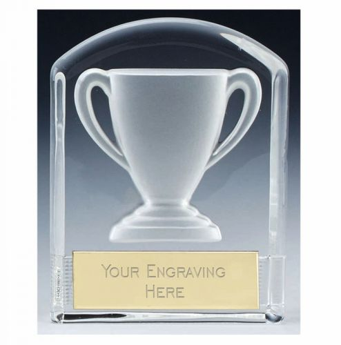 Precision Cast Glass Cup Trophy Award - Clear - 4 3 8 (11cm)- New 2018