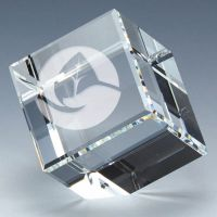 Floating Crystal Cube 2 3/8 x 2 3/8 Inch (6cm x 6cm) : New 2020