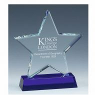 Sapphire Star Glass Award 6 Inch (15cm) - 18mm Thickness : New 2020