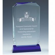 Sapphire Standard Glass Award 8.75 Inch (22cm) - 18mm Thickness : New 2020