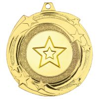Star Cyclone Medal Gold 2in - New 2019