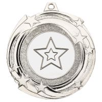 Star Cyclone Medal Silver 2in - New 2019