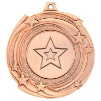 Star Cyclone Medal Bronze 2in - New 2019