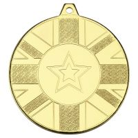 Union Flag Medal Gold 2in : New 2020