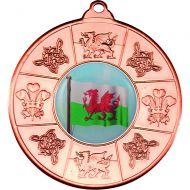 Wales Medal Bronze 2in