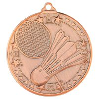 Badminton Tri Star Medal Bronze 2in - New 2019
