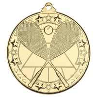 Squash Tri Star Medal Gold 2in - New 2019