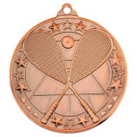 Squash Tri Star Medal Bronze 2in - New 2019