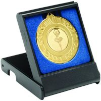 Black Medal Box - Small (40|50mm Recess Blue Insert) 3.5in