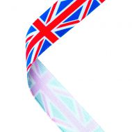 Medal Ribbon Union Jack 30 X 0.875in