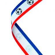 Medal Ribbon Red W Bl Footballs 30 X 0.875in