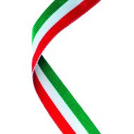Medal Ribbon Green/White/Red 30 X 0.875in