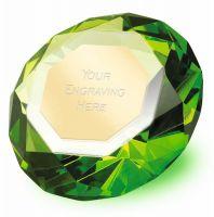 Clarity Green Diamond100 3 7 8 Inch H (10cm H) - New 2019