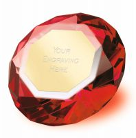 Clarity Red Diamond 2 3 8 Inch H (6cm H) - New 2019