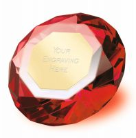 Clarity Red Diamond 3 7 8 Inch H (10cm H) - New 2019