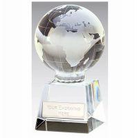 Globe Optical Trophy Clear 3 7 8 Inch