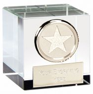 Optical Crystal Merit Clear Silver 2 Inch