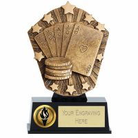 Cosmos Mini Poker Trophy Award 4 7/8 Inch ( 12.5cm) : New 2020