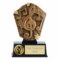 Cosmos Mini Music Trophy Award 4 7/8 Inch ( 12.5cm) : New 2020
