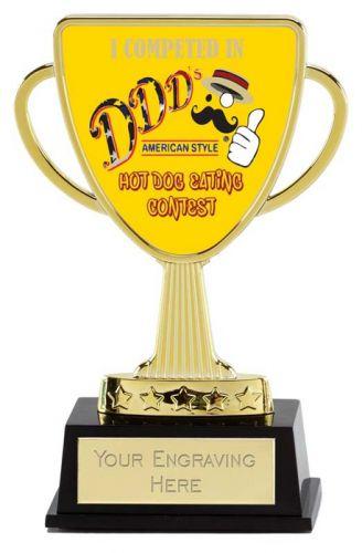 Bespoke Lion Presentation Cup Trophy Award Gold 4 3/8 Inch (11cm) : New 2020