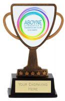 Bespoke Lion Presentation Cup Trophy Award Antique Gold 4 3/8 Inch (11cm) : New 2020