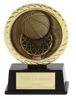 Vibe Super Mini Basketball Trophy Award 3 3/8 Inch (8.5cm) : New 2020