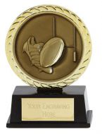 Vibe Super Mini Rugby Trophy Award 3 3/8 Inch (8.5cm) : New 2020