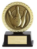 Vibe Super Mini Ten Pin Bowling Trophy Award 3 3/8 Inch (8.5cm) : New 2020