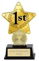 1st Place Trophy Award Superstar Mini Gold 4.25 Inch (10.5cm) : New 2020