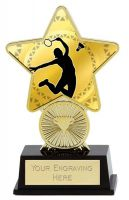 Badminton Trophy Award Superstar Mini Gold 4.25 Inch (10.5cm) : New 2020