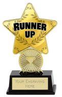 Runner Up Trophy Award Superstar Mini Gold 4.25 Inch (10.5cm) : New 2020