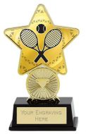 Tennis Trophy Award Superstar Mini Gold 4.25 Inch (10.5cm) : New 2020