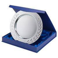 Silver Plated Iron Salver Round with Laurel Edge 0.4mm Thick 8in : New 2020