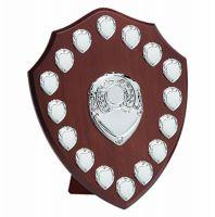 Triumph14 Silver Annual Shield Trophy Award Rosewood Silver 14 Inch
