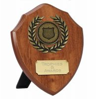Wessex4 Walnut Shield Trophy Award 4 Inch (10cm) - New 2019