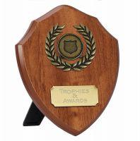 Wessex5 Walnut Shield Trophy Award 5 Inch (12.5cm) - New 2019