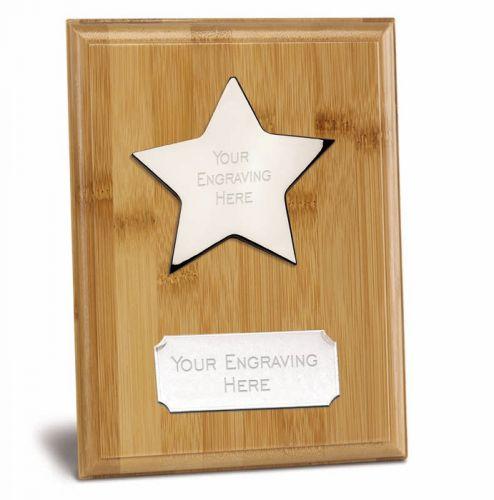 Bamboo Star Presentation Plaque Trophy Award 8 x 6 Inch (20 x 15cm) : New 2020