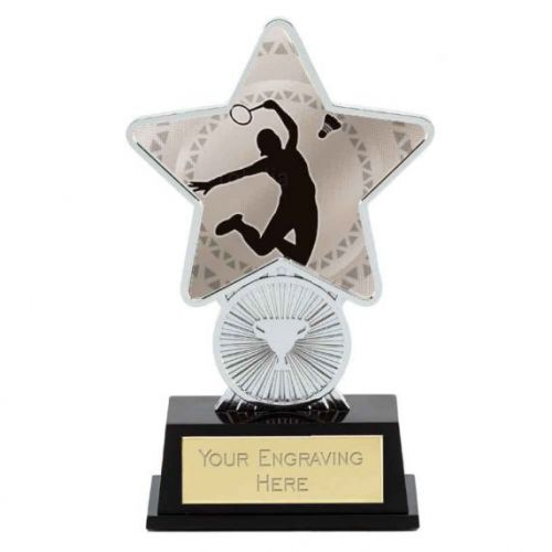 Badminton Trophy Award Superstar Mini Silver 4.25 Inch (10.5cm) : New 2020