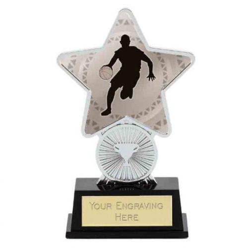 Basketball Trophy Award Superstar Mini Silver 4.25 Inch (10.5cm) : New 2020