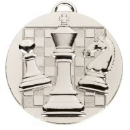 TARGET Chess Medal Silver 50mm